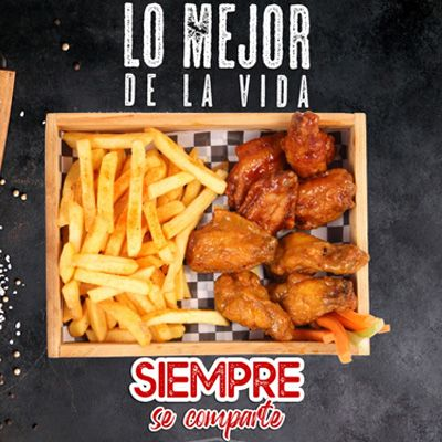 Restaurante en Bello Wingsports